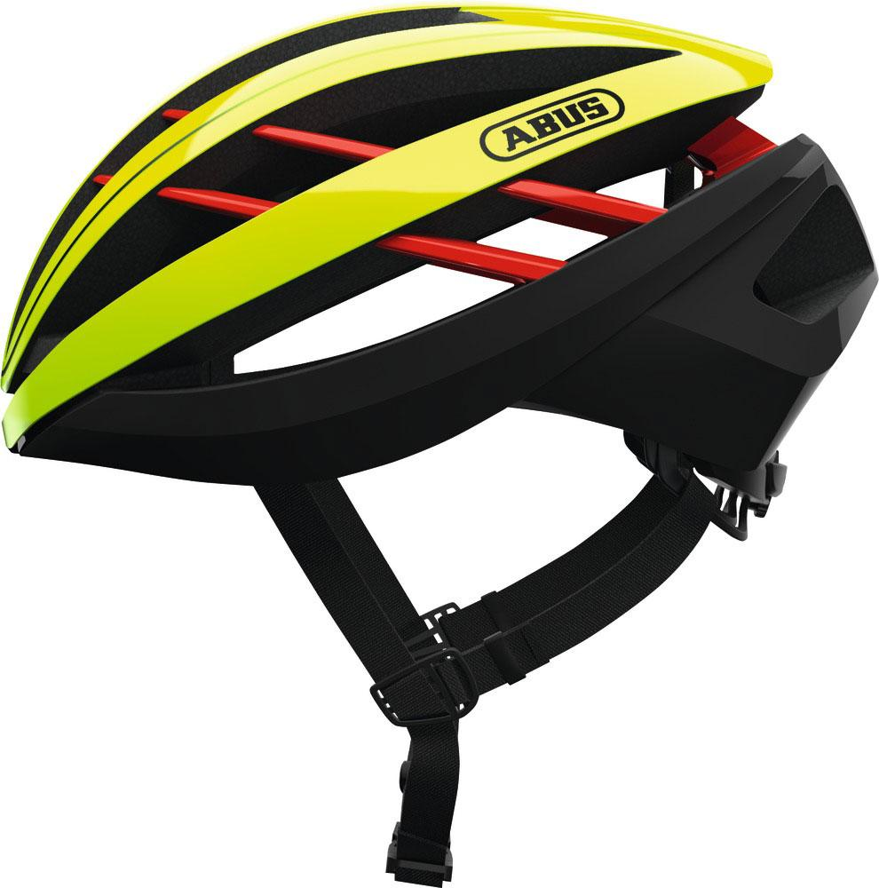 Abus Aventor Racefiets Helm Neon Yellow