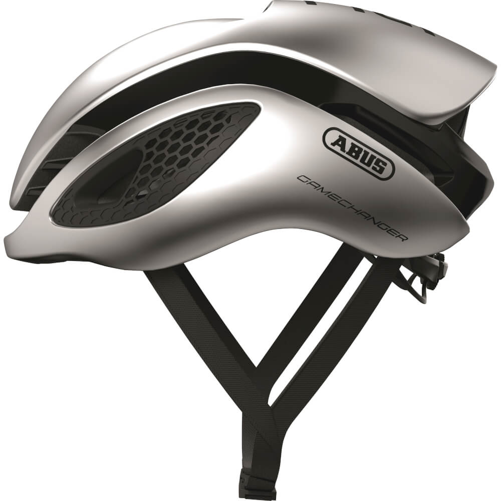 Abus Gamechanger Racefiets Helm Gleam Silver