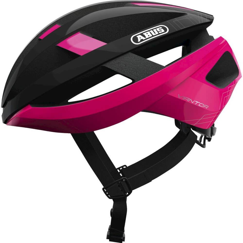Abus Viantor Racefiets Helm Fuchsia Pink