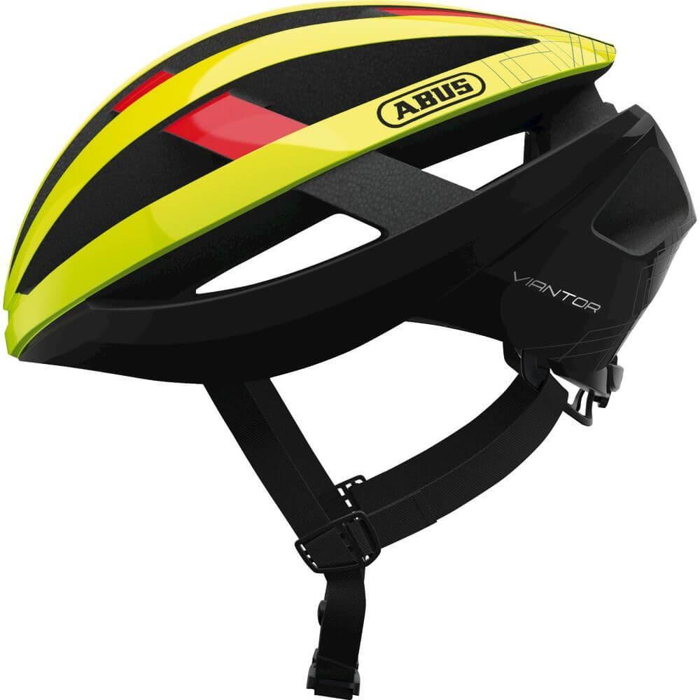 Abus Viantor Racefiets Helm Neon Yellow