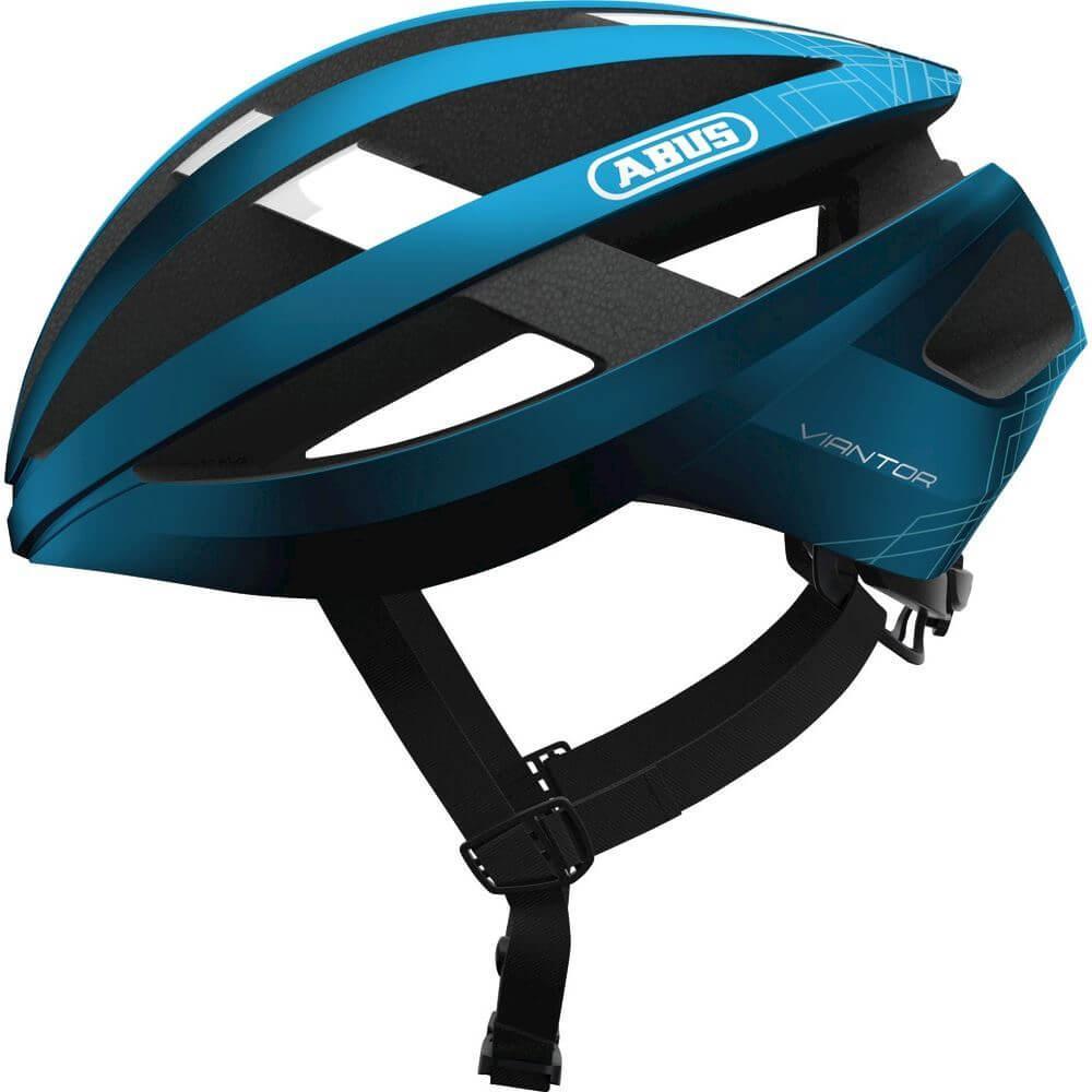 Abus Viantor Racefiets Helm Steel Blue