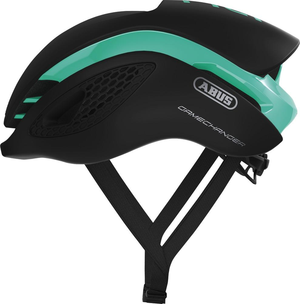 Abus Gamechanger Racefiets Helm Celeste Green