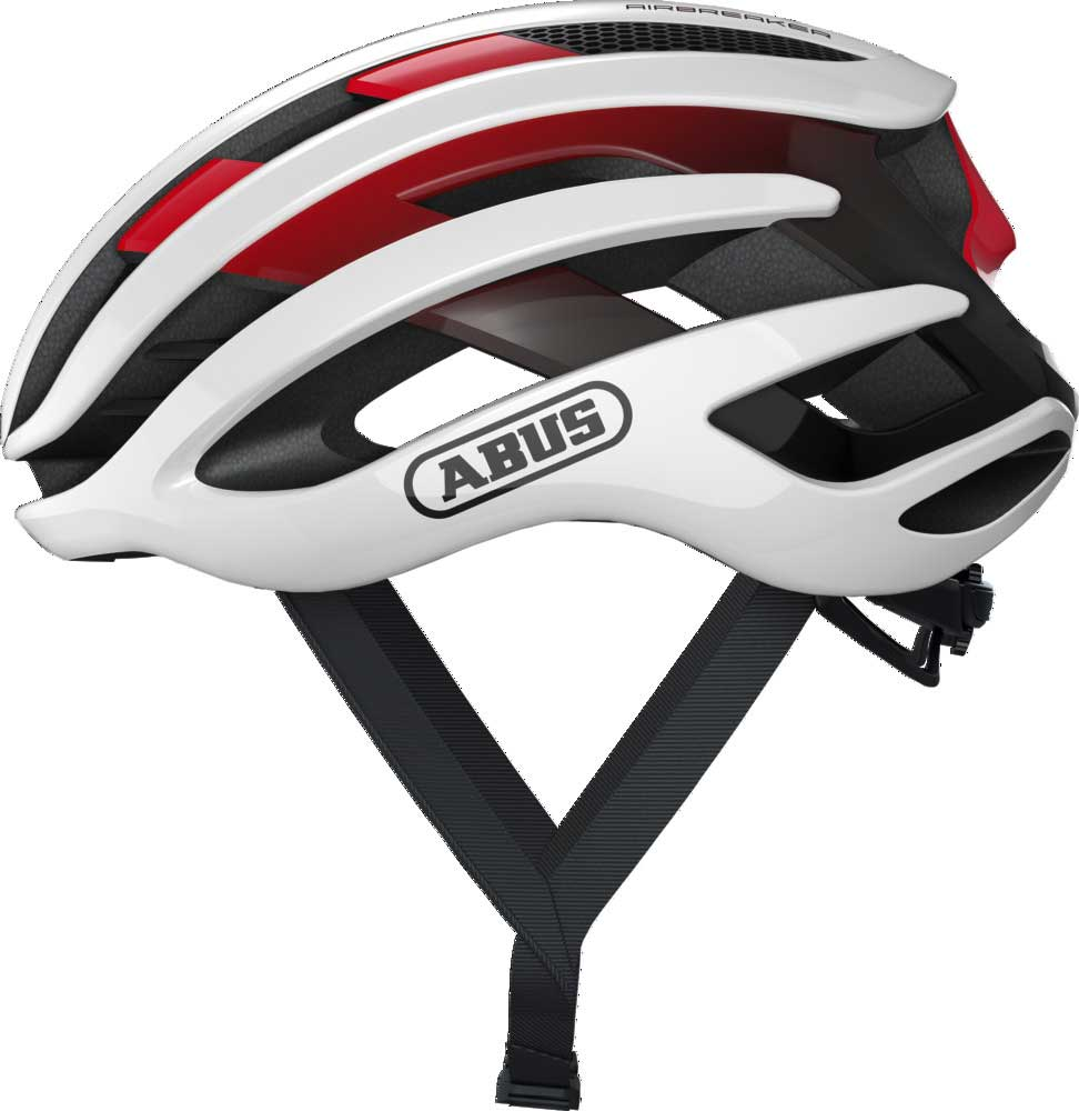 Abus AirBreaker Racefiets Helm White/Red