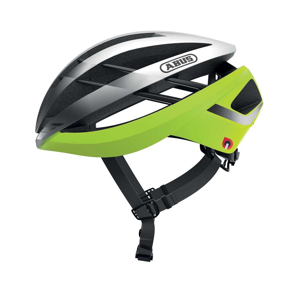 Abus Aventor Quin Racefiets Helm Neon Yellow