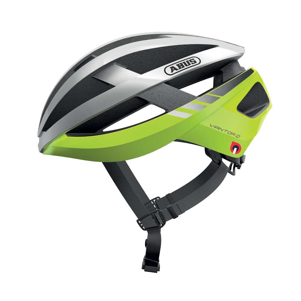 Abus Viantor Quin Racefiets Helm Neon Yellow
