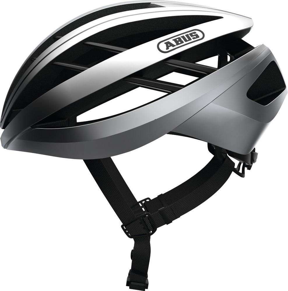 Abus Aventor Racefiets Helm Gleam Silver