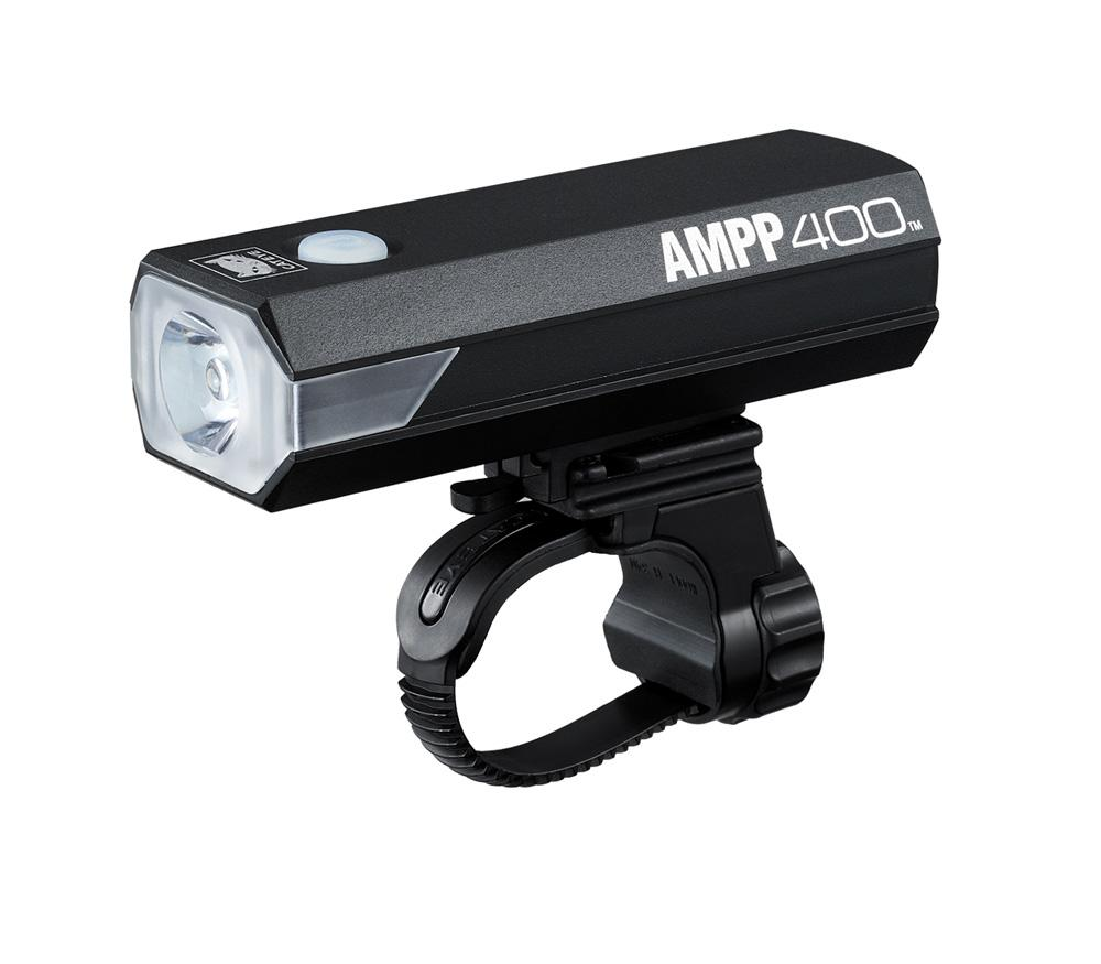 Cateye AMPP400 Koplamp LED Zwart