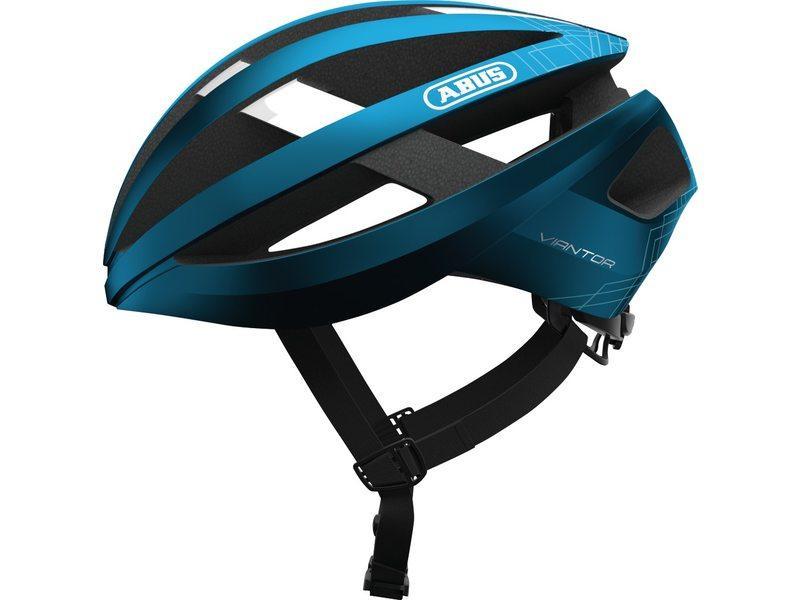 Abus Viantor Racefiets Helm Steel Bleu Steel Blue