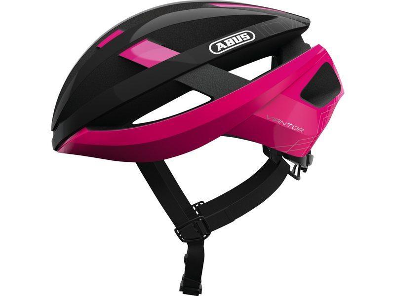 Abus Viantor Racefiets Helm Fuchisa Pink Fuchsia Pink