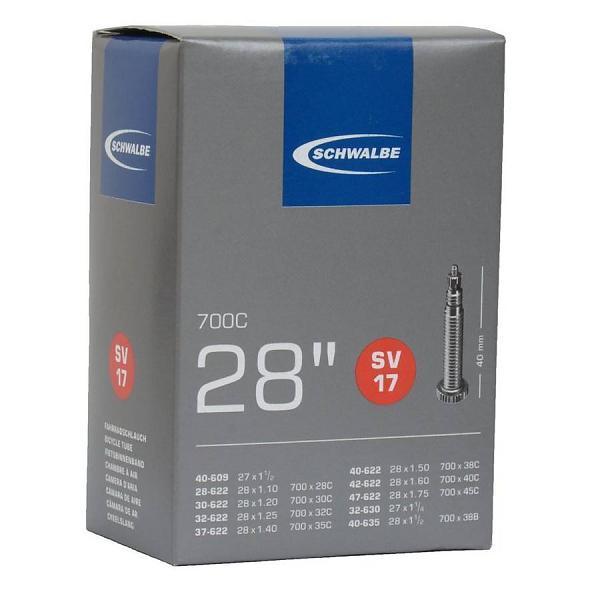 Schwalbe Binnenband SV17 28/47-622/635 Zwart
