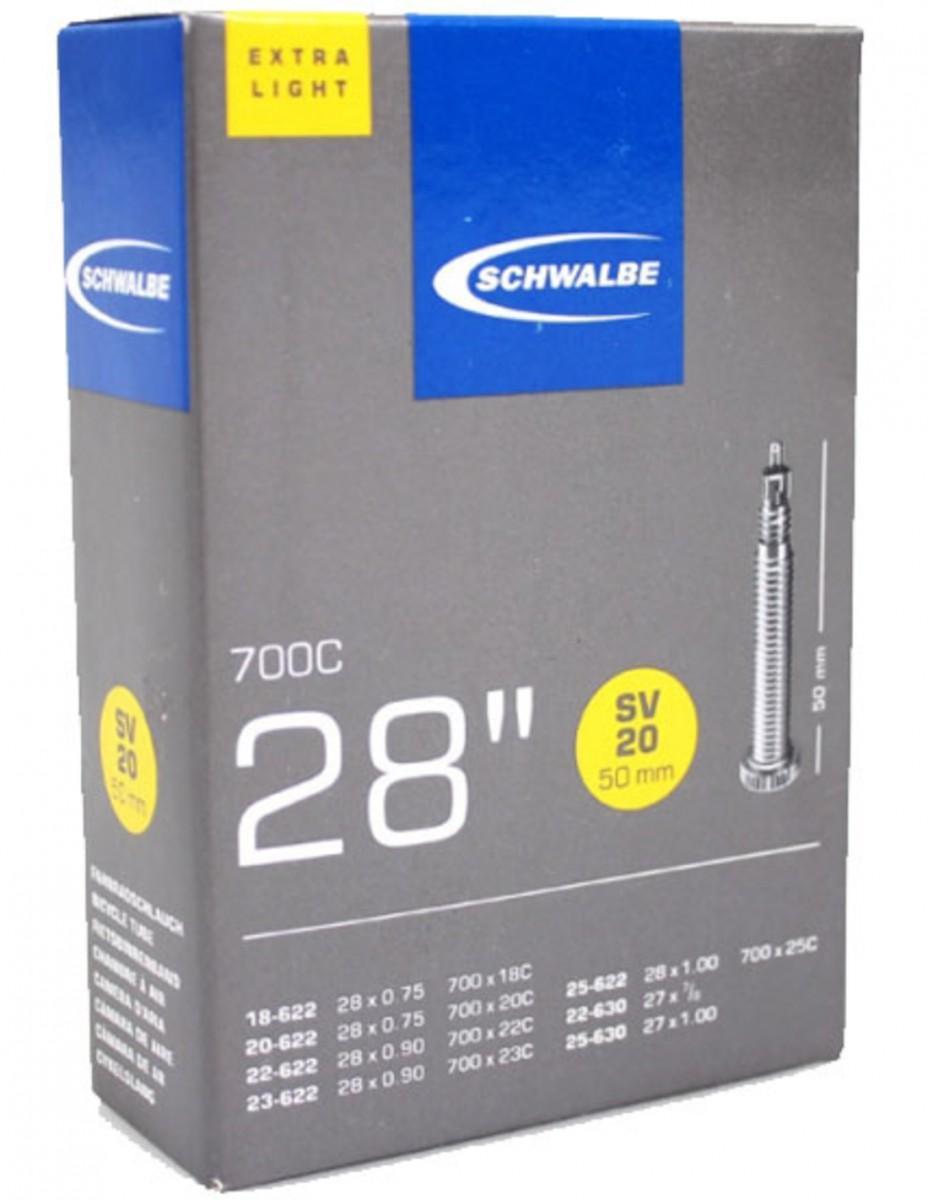 Schwalbe Binnenband SV20 50mm Extra light Zwart