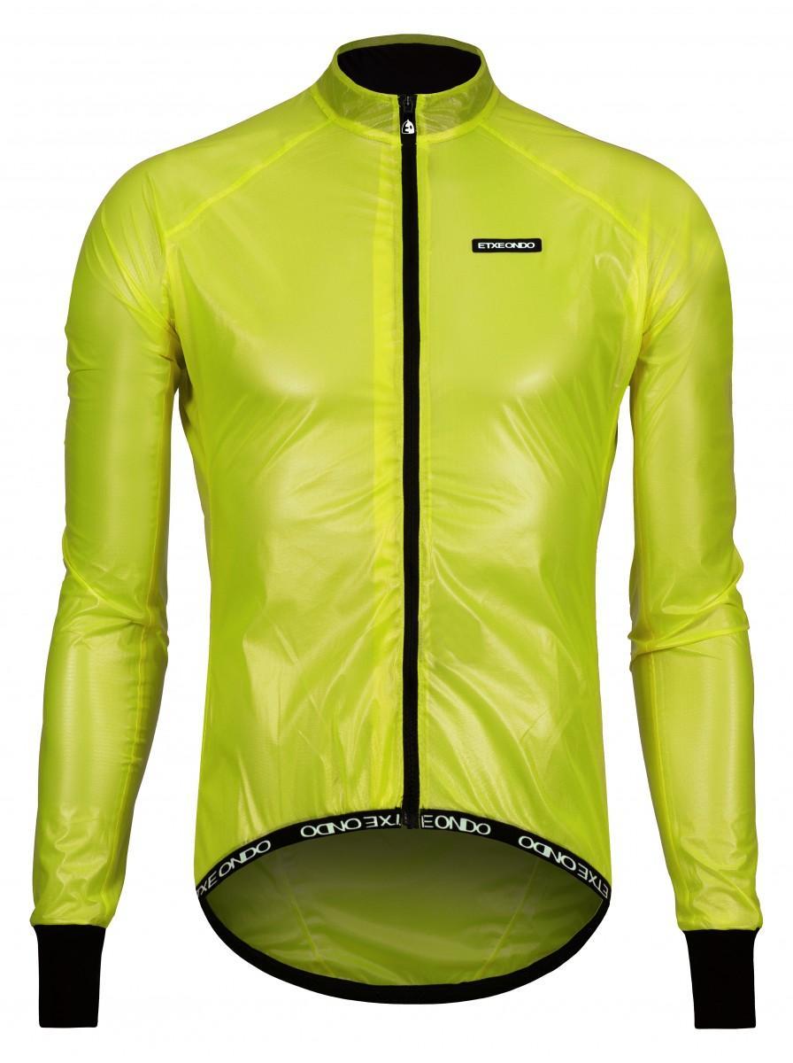 Etxeondo Mens Busti Rain Jacket Yellow