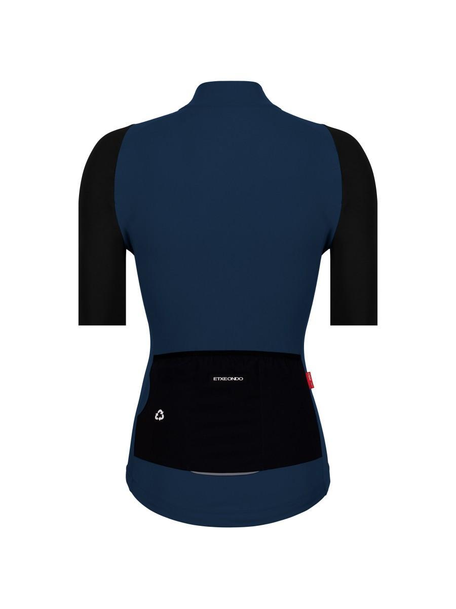 Etxeondo Womens Alda Jersey Blue/Black Petrol-Black