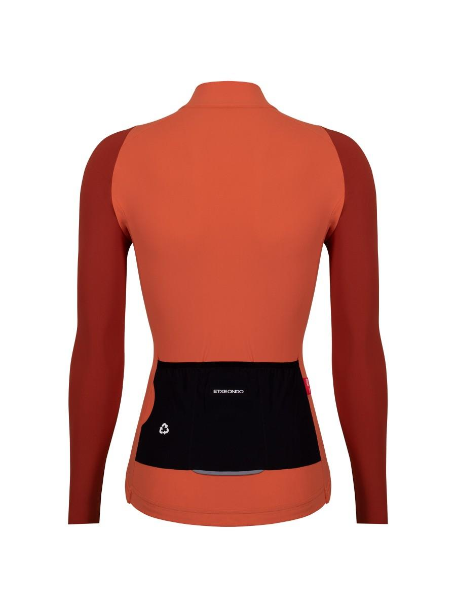 Etxeondo Womens Alda Long Sleeve Jersey Terracotta Teja