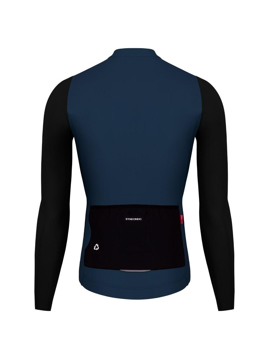 Etxeondo Mens Alde Long Sleeve Jersey Blue/Black Blue Ink